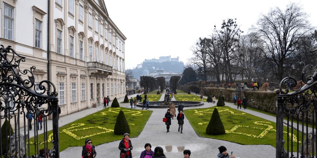 Сад Мирабель и крепость Хоэнзальцбург