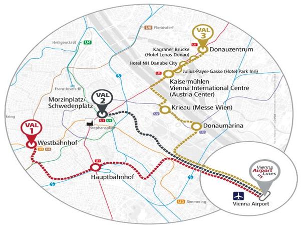 Как доехать из аэропорта Вены в город